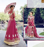 FROM STYLISH BAZAAR ZOYA CRYSTAL BEAUTIFUL PINK COLORED DRESS WITH SPLENDID FLORAL EMBROIDERY WORK PFCR16001