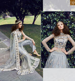FROM THE HOUSE OF STYLISH BAZAAR ZOYA CRYSTAL STRIKING GREY COLORED DRESS WITH ATTRACTIVE EMBROIDERY WORK PFCR16002