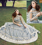 STYLISH BAZAAR ZOYA CRYSTAL STRIKING GREY COLORED DRESS WITH ATTRACTIVE EMBROIDERY WORK PFCR16002