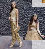 BROUGHT TO YOU BY STYLISH BAZAAR ZOYA CRYSTAL ULTIMATE GOLD & BEIGE COLORED DRESS WITH OUTSTANDING FLORAL WORK PFCR16003