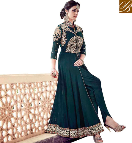 STYLISH BAZAAR ENTHRALLING JACKET STYLE ONLINE INDO WESTERN ANARKALI SALWAR SUITS PATTERN ONLINE SHOPPING ONLINE ANARKALI DESIGNER DRESSES COLLECTION 2017 SLAR16003