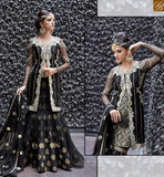 STYLISH BAZAAR ZOYA CRYSTAL ELEGANT BLACK COLORED DRESS WITH NICE LOOKING BORDER WORK PFCR16005
