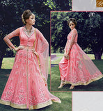 STYLISH BAZAAR INTRODUCES ZOYA CRYSTAL IDEAL PINK COLORED DRESS WITH GLITTERING FLORAL EMBROIDERY WORK PFCR16006