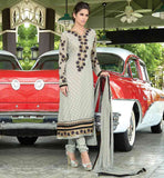 BEAUTIFUL NECK DESIGN IN PAKISTANI STYLE DRESS  SMOKKEY GREY IN PAKISTANI STYLE CASUAL WEAR SALWAR KAMEEZ
