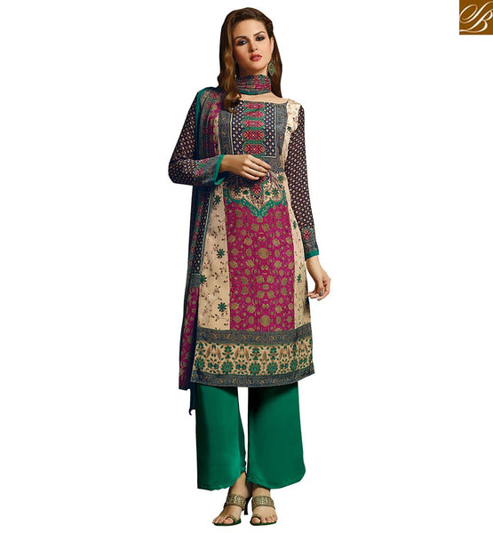 A STYLISH BAZAAR PRESENTATION PARTY WEAR STRAIGHT CUT DESIGNER SALWAAR SUIT VDROO1601 A