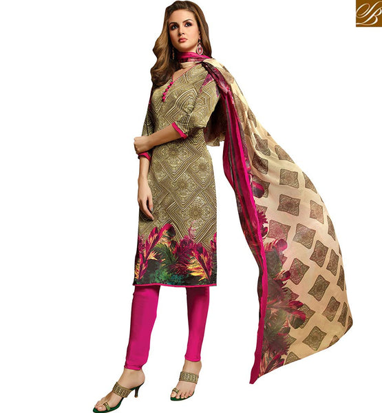 FROM THE HOUSE OF STYLISH BAZAAR KARACHI STYLE REMARKABLE ABSTRACT PRINTED SALWAR SUIT VDROO1603A