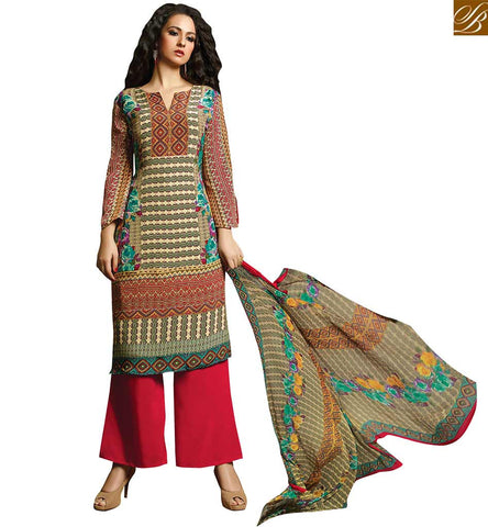 BROUGHT TO YOU BY STYLISH BAZAAR NOTABLE STRAIGHT CUT KNIT PRINT PUNJABI SUIT VDROO1604A