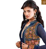 BLUE KOTI LOOK GEORGETTE SALWAR KAMEEZ WITH STONEWORK