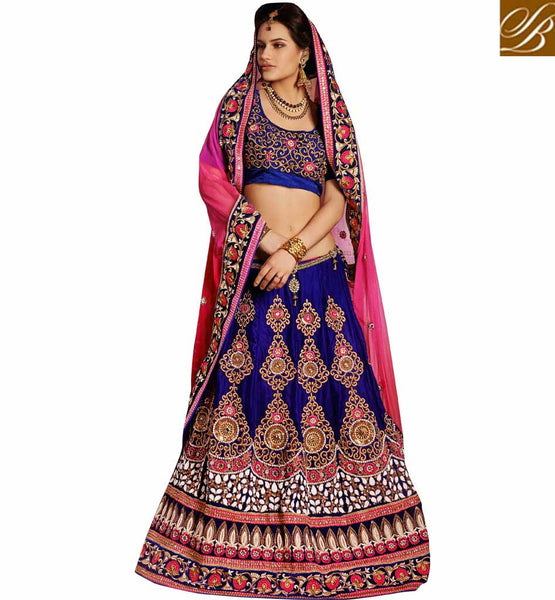 LATEST FASHION INDIAN BRIDAL LEHENGA STYLE SAREE BLOUSE DESIGNS