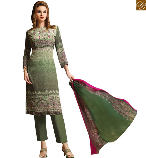 A STYLISH BAZAAR PRESENTATION TRENDY SEA GREEN CASUAL WEAR PAKISTANI SALWAAR KAMEEZ VDROO1607B