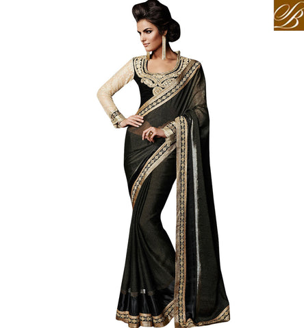 MIND BLOWING STYLISH NEW FASHION SAREE WITH STUNNING EMBROIDERED BLOUSE
