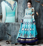 pic LATEST DESIGNER EUROPEAN GOWN RAMA STYLE ANARKALI SALWAR SUIT WITH DUPATTA