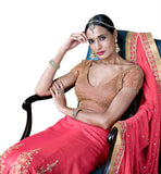 FROM STYLISH BAZAARSUPERBLY DESIGNED PINK LEHENGA SAREE NKGR5054