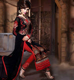 ONLINE SHOPPING FOR CHURIDAR IN CHEAPEST PRICE RED AND BLACK SALWAR KAMEEZ IN PAKISTANI STYLE WITH EMBROIDERY