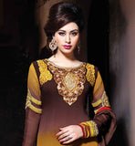NEW 2015 DESIGN SALWAR KAMEEZ FOR STYLISH WOMEN WEAR IN BEAUTIFUL EMBROIDERED  PAKISTANI SALWAR KAMEEZ IN GEORGETTE FABRIC PARTY WEAR SALWAR SUIT AT AFFORDABLE PRICE FOR WOMEN