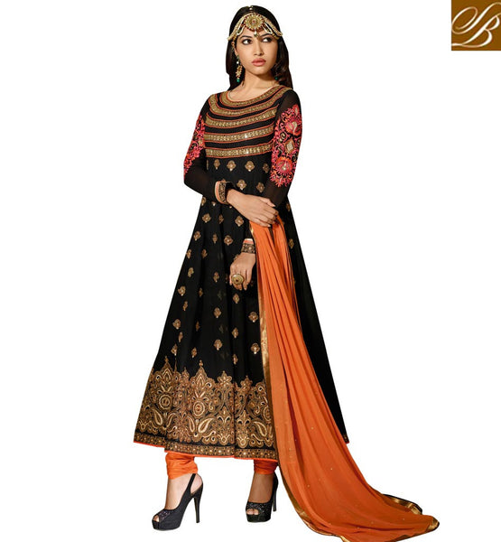 black anarkali suit online shopping