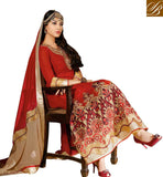 MAROON ANARKALI WITH CHIFFON DUPATTA