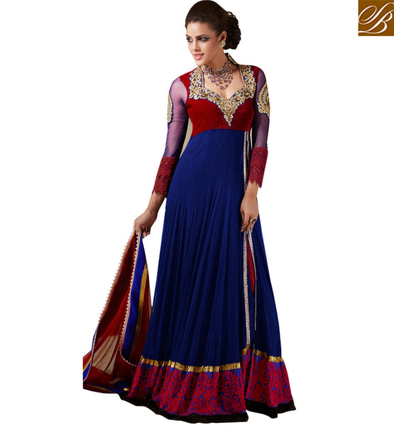 EFFORTLESS STYLE GOWN STYLE WEDDING ANARKALI SALWAR KAMEEZ SHOPPING