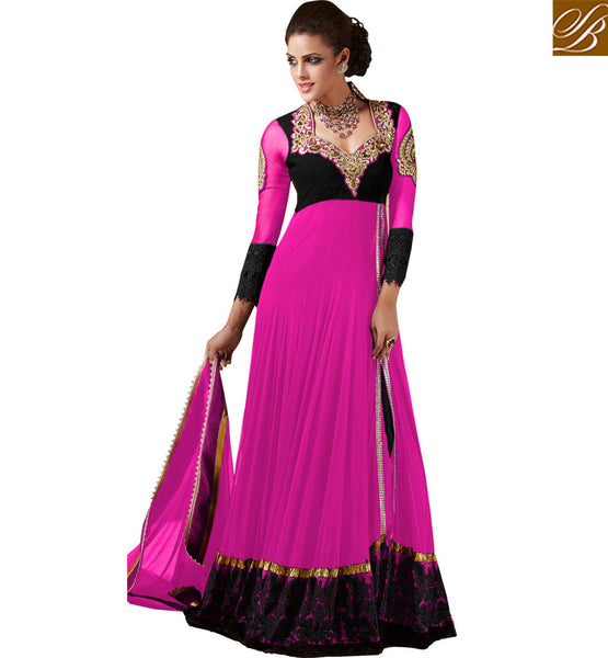 INDIAN WEDDING WARDROBE ANARKALI DESIGNER SUITS ONLINE SHOPPING
