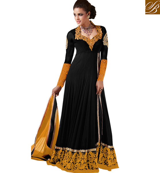 RARE AMALGAMATION OF INDO WESTERN FASHION MAXI GOWN STYLE ANARKALI