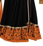 RAMA FASHIONS SURAT RETRO HIT DESIGN 1705 NEW COLORS BLACK WITH ORANGE