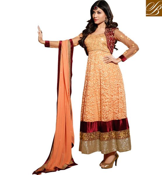SPECIAL OCCASION WEAR ANARKALI WITH VELVET KOTI