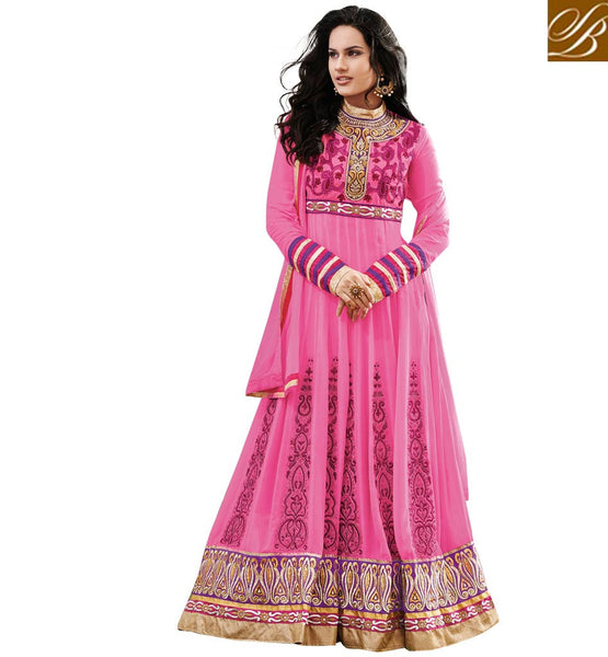 IRRESISTIBLE PINK OCCASION WEAR ANARKALI SUIT RTAST1708