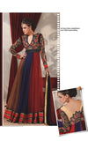 Amazing Tan Brown Red Purple Floor Length Anarkali Suits 1372