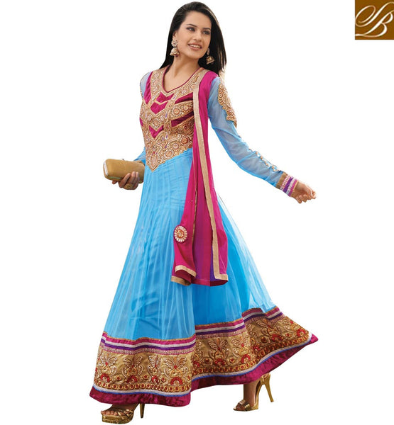 ATTRACTIVE BLUE OCCASION WEAR ANARKALI SUIT RTAST1709