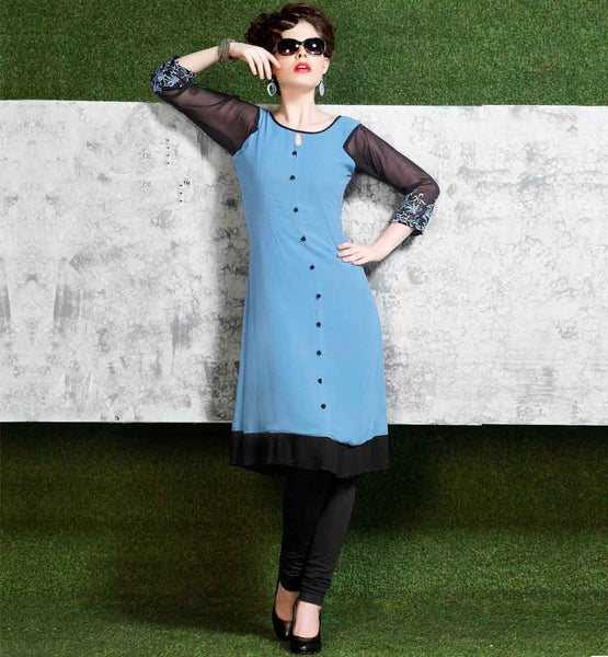 PREMIUM STYLISH-BAZAAR PURE VISCOSE KURTI THREE FOURTH SLEEVES