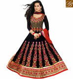 EXQUISITE BLACK OCCASION WEAR ANARKALI SUIT RTAST1711