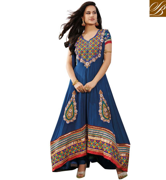 MAJESTIC BLUE OCCASION WEAR ANARKALI SUIT RTAST1713