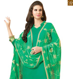 ELEGANT GREEN STRAIGHT CUT SALWAR KAMEEZ WITH EMBROIDERED DUPATTA VDCLB17525