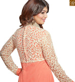 STYLISH BAZAAR INTRODUCES AYESHA TAKIA MARVELOUS DESIGNER ORANGE COLORED FESTIVE WEAR EMBROIDERED WORK ANARKALI SALWAR KAMEEZ VDRV17793