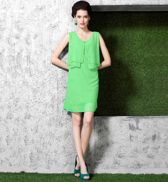 SHOP ONLINE UBERCOOL LATEST FASHION LIGHT GREEN DESIGNER KURTI
