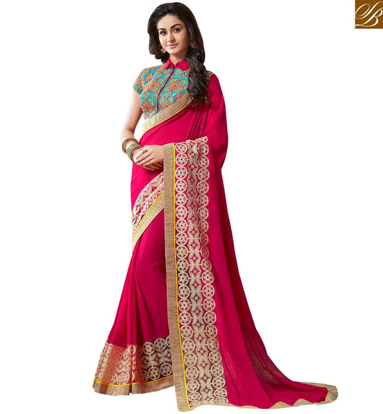 SPLENDID FLORAL DESIGN PARTY WEAR SARI VAR1800 BY STYLISH BAZAAR