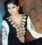BLACK GEORGETTE & BRASSO PARTY WEAR SALWAR KAMEEZ