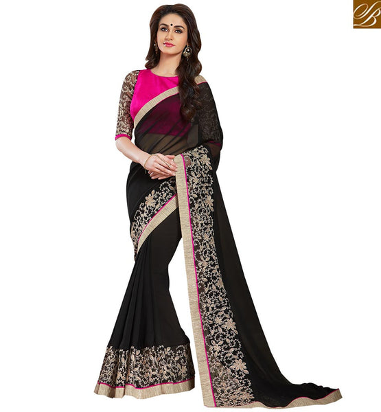 TANTALIZING DESIGNER SARI DESIGN TAILOR MADE FOR SPECIAL EVENTS VAR1804 BY STYLISH BAZAAR