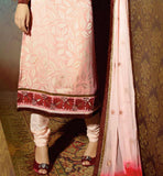 long kurti with shaded dupatta