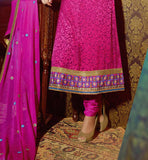 PINK GEORGETTE & BRASSO PARTY WEAR SALWAR KAMEEZ DRESS