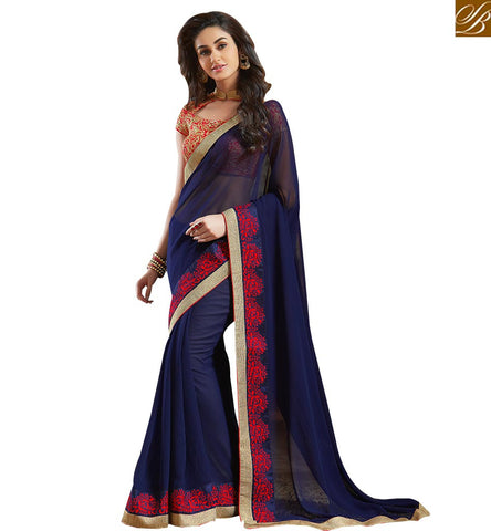 EXOTIC SAREE AND BLOUSE MADE FOR SPECIAL EVENTS VAR1809