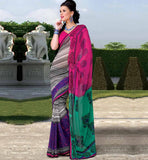 BEAUTIFUL MULTICOLOR CASUAL WEAR SAREE RTKOR181A