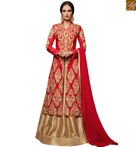 STYLISH BAZAAR GRAB THIS EXCLUSIVE DESIGNER ANARKALI SALWAR KAMEEZ WITH BEAUTIFUL SLIT AND LEHENGA STYLE VDPNH18219