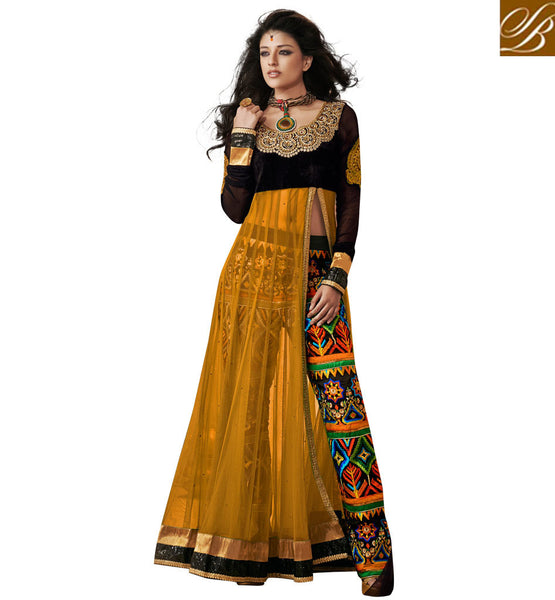 1821C RAMA SAAZ ANARKALI WITH TROUSER STYLE EMBRPIDERED PANTS
