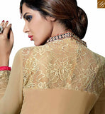 FROM THE HOUSE OF STYLISH BAZAAR CUTE DRESSES PAKISTANI BEIGE COLOR STRAIGHT CUT SALWAR KAMEEZ WITH FLORAL EMBROIDERY VDKAM18222