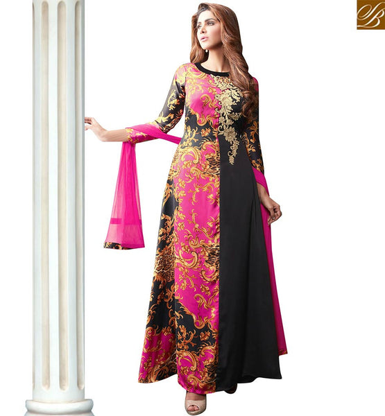 STYLISH BAZAAR UNIMAGINABLE SATIN SILK DESIGNER ANARKALI SALWAR KAMEEZ HAVING DIGITAL PRINT VDPLS18297