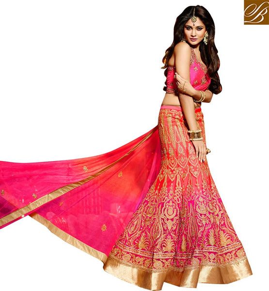 AESTHETIC PARTY WEAR LEHENGA CHOLI DESIGN RTMNM1384  BY STYLISH BAZAAR PRESENTATION