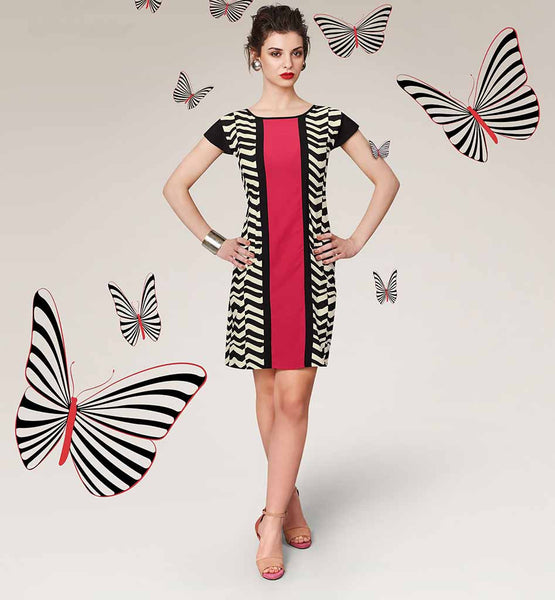 BUY INDIAN KURTIS ONLINE USA DIGITAL PRINTED MIDI DRESS FOR GIRLS