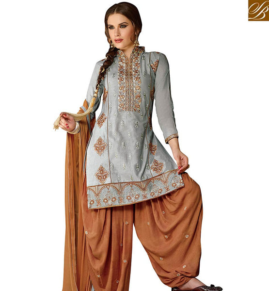 STYLISH BAZAAR WEAR ELEGANT CASUAL STRAIGHT CUT DESIGNER SALWAR KAMEEZ WITH LOVELY HYNECK PATIALA STYLE VDPTH18451