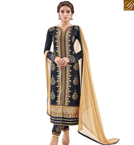 STYLISH BAZAAR BE STYLISH WITH STYLISH BAZAAR WEARING THIS STRAIGHT CUT DESIGNER SALWAR KAMEEZ WITH BEIGE DUPATTA VDAPU18462